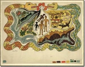 Diego Rivera (1886-1957): La creazione. Illustrazione del Popol Vuh, ca. 1931